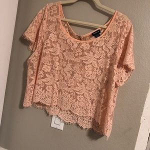 Torrid scallop lace top